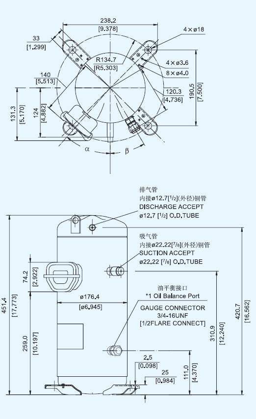 Compressor Hermetic Scroll C-sbn303h8g Panasonic